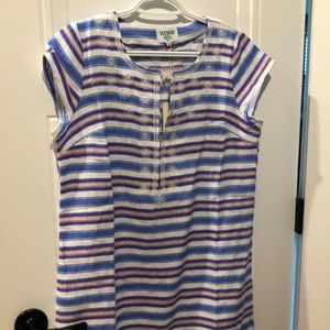 Linen Striped Beach Cover Up